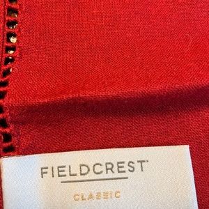 Fieldcrest Dining - 9 Red Classy Table Napkins Christmas Holiday